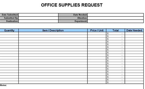 Office Supplies Order Form by Office Supply Order Form Template Clergy Coalition