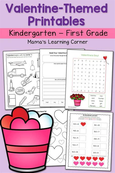 valentine worksheets  kindergarten   grade
