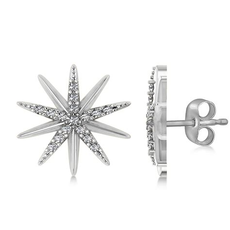 Diamond Accented Starburst Stud Earrings 14k White Gold 016ct. Fashion Gold Jewellery. Bracelets Lockets. White Yellow Gold Engagement Rings. Purple Necklace. 14k Yellow Gold Bangle Bracelet. Single Diamond Wedding Rings. Embroidery Thread Bracelet. Medal Necklace