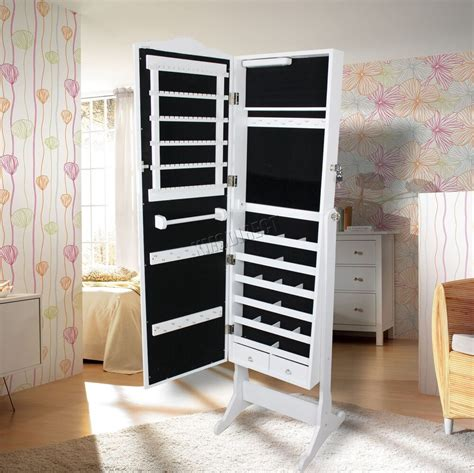 westwood armoire jewellery cabinet storage stand lockable