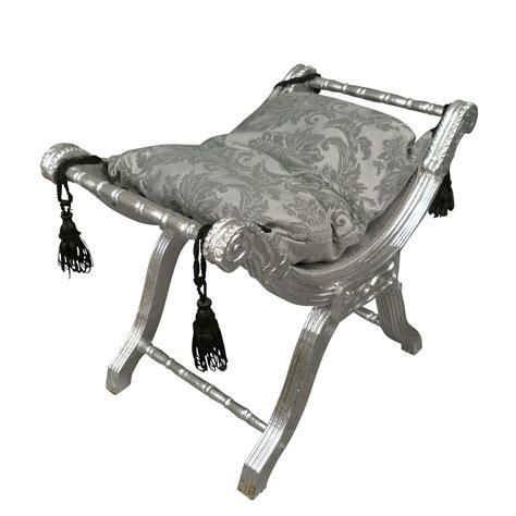 banquette baroque argent 233 e dagobert style rococo chaise