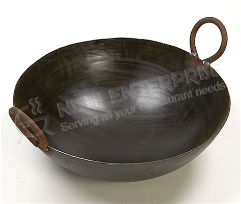 cuisine style 馥 50 indian style iron kadai wok for frying and cooking