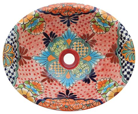 mexican hand painted sinks mexican talavera ceramic hand painted bathroom oval sink