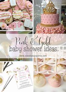 Inspirations :: Pink and Gold Baby Shower Sweet Pea Paperie