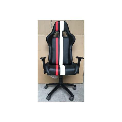 siege reglable siège de bureau baquet simili cuir réglable avec accoudoir