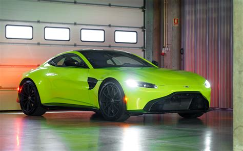 2019 Aston Martin Vantage Lime Essence Green 4k Wallpapers