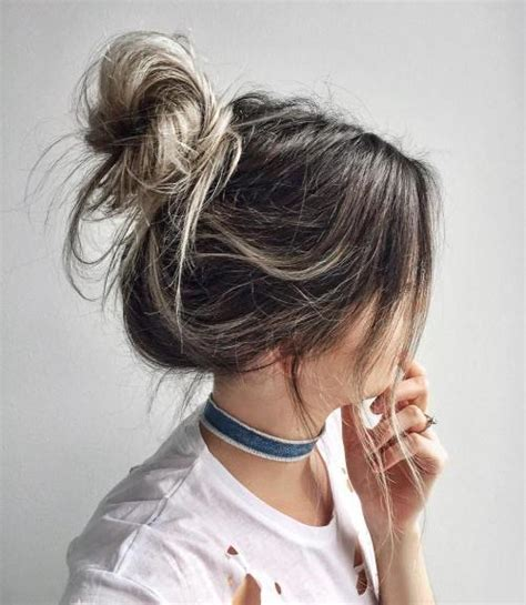 top knot bun ideas  therighthairstyles