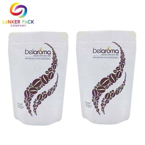 Square bottom aluminum foil gusseted coffee bags. Custom Coffee Packaging Bags With Valve