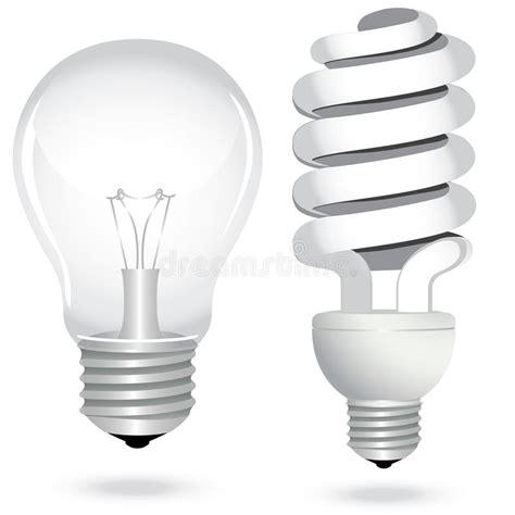 set energy saving light bulb l electricity stock vector
