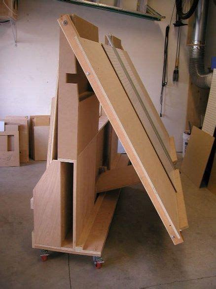 lumber storage  panel  woodworking shop layout