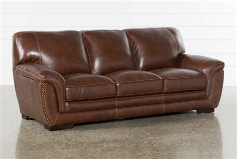 cassidy leather sofa living spaces