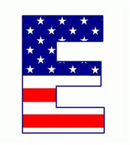 American Flag Letters Clip Art