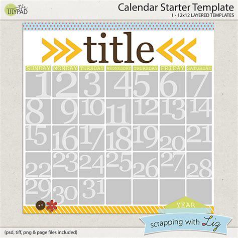 html starter template digital scrapbook template calendar starter scrapping with liz