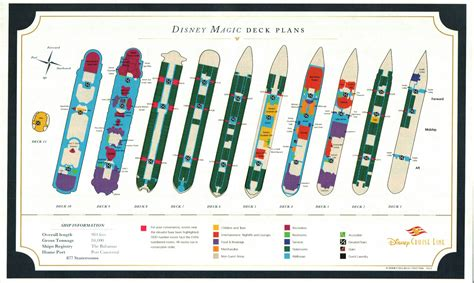 Disney Deck Plan Deck 6 by Personal Navigators Disney Magic 5 Western