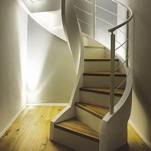 Escalier Colimaçon Beton : escalier en colima on marche en bois limon lat ral avec contremarche eli ca 10 rizzi ~ Melissatoandfro.com Idées de Décoration