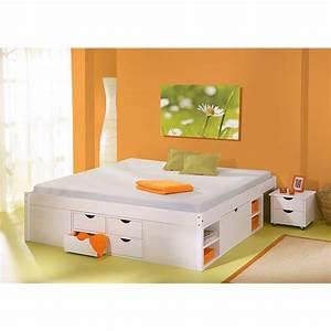 Bett 160x200 Weiß : bett 160x200 cm doppelbett stauraumbett funktionsbett wei rost kiefer massiv ebay ~ Indierocktalk.com Haus und Dekorationen