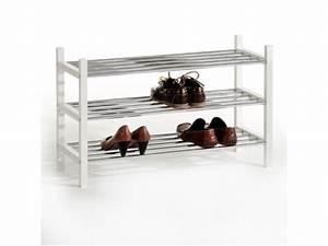Range Chaussure Metal : rangement chaussure resa blanc metal ~ Teatrodelosmanantiales.com Idées de Décoration