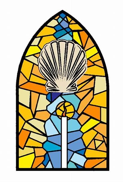 Sacraments Stained Glass Catholic Church Seven Baptism