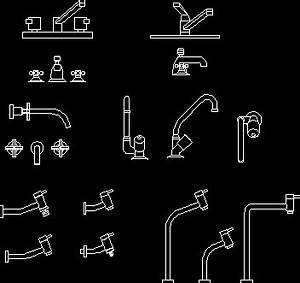 Faucets DWG Block for AutoCAD • Designs CAD