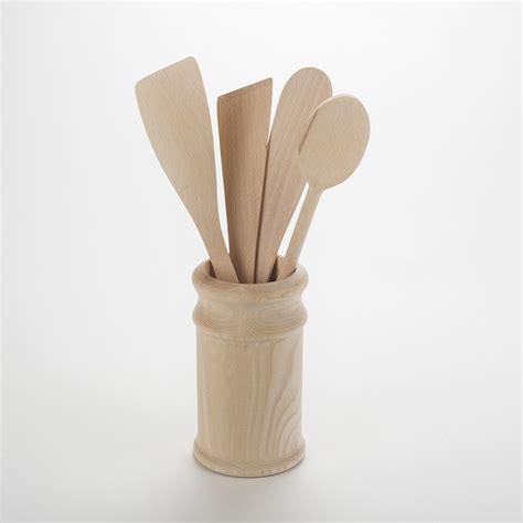 ustensiles de cuisine en bois ustensiles de cuisines en bois brut non trait 233 avec pot