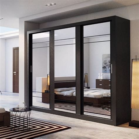 Large Wardrobe Cabinet by Wardrobe Closet With Mirror Sliding Doors Luxury Bedroom