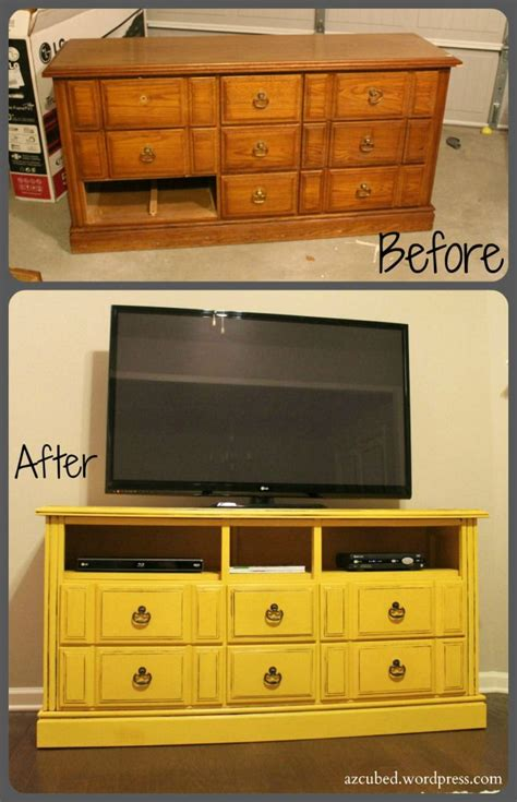 turning a dresser into a tv stand turn an dresser into a fabulous tv stand diy crafts