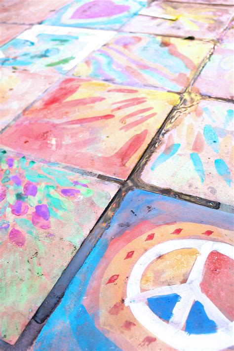 Easy Art Ideas For Kids Watercolor On Tile  Babble Dabble Do