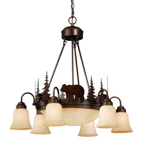 rustic chandeliers montana downlight chandelier black