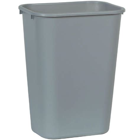 rubbermaid commercial products  gal grey rectangular trash  fggray  home depot