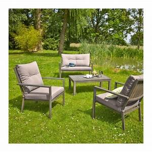 CARREFOUR Salon De Jardin Bas HONFLEUR 1 Table Basse