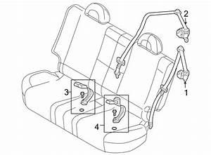 Chevrolet Aveo Seat Belt Receptacle  Beige