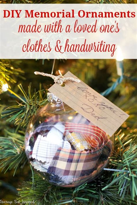 diy memorial ornaments  remember loved   christmas