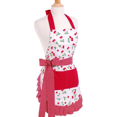 what is an apron flirty aprons women 39 s apron in very cherry reviews wayfair