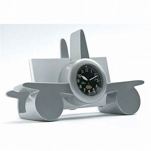 Airplane with clock business card holder for Airplane business card holder