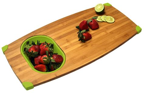 bamboo over sink cutting board and colander adorable home