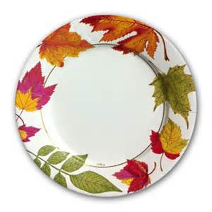 personalized dinnerware autumn leaves dinner plates paperstyle