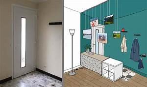 amenager une entree ouverte sur le salon sans cloisonner With comment meubler une entree 6 entree avec un sol en carrelage de ceramique photos et
