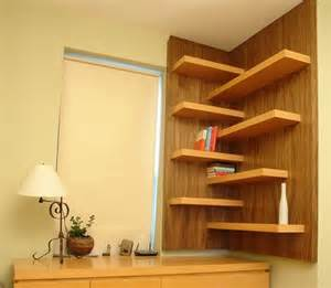 floating corner shelves design for storing and beauty
