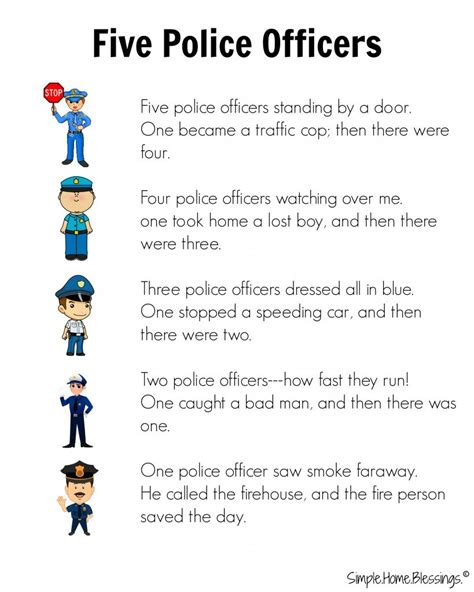 police officer lesson plans for preschool preschool helpers simple home blessings 262