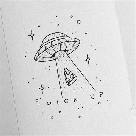 space picking  pizza slice awesome drawing ideas