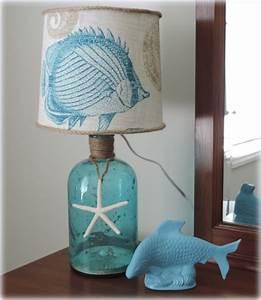DIY Decor: A Beach Inspired Bottle Table Lamp - Beach