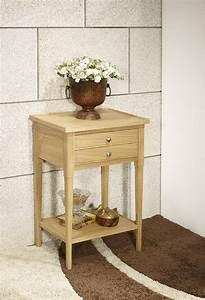 Meuble En Chene Massif : meuble d 39 appoint st phane ou meuble t l phone en ch ne ~ Dailycaller-alerts.com Idées de Décoration