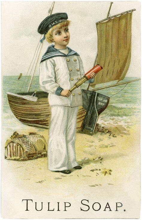 cutest vintage sailor boy image  graphics fairy