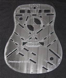 page With acrylic guitar templates