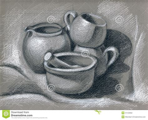 kitchen utensils stock illustration image  artistic