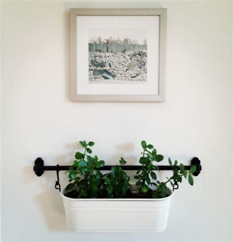 wall planters ikea ikea fintorp rail used to hang plants on the wall