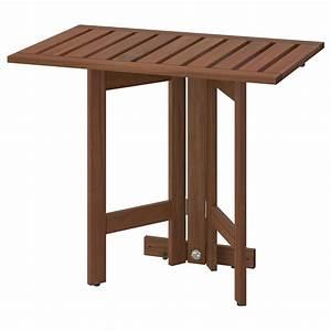Ikea Gartenmöbel äpplarö : pplar gateleg table for wall outdoor brown stained ikea ~ Watch28wear.com Haus und Dekorationen