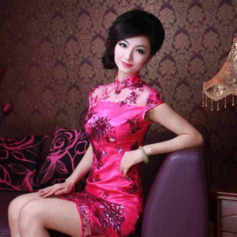 Hot Sales Women Cotton Lace Mosaic Slim Sexy Chinese Cheongsam Mini Skirt Low Slits Daily Wear