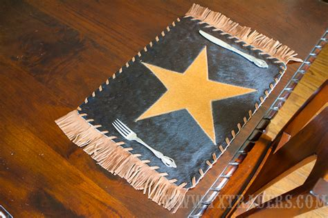 Cowhide Placemats by Cowhide Rugs Table Runners Coasters