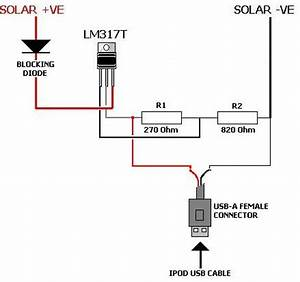 Solar ipod charger reukcouk for Usb charger wiring diagram furthermore iphone usb cable wiring diagram